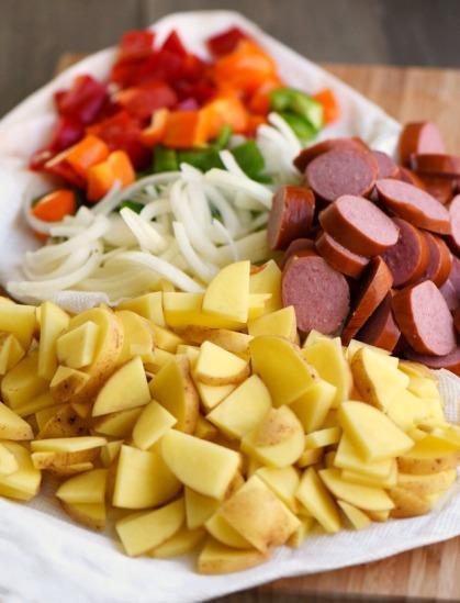 turkey-kielbasa-pepper-potato-hash-ingredients