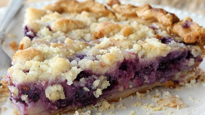Blueberry Sour Cream Pie.